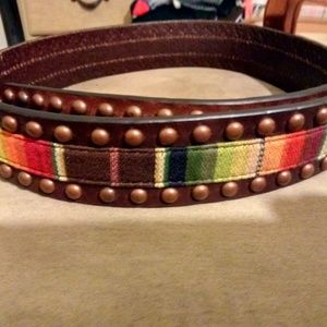 NWT brown leather Ariat belt, size small